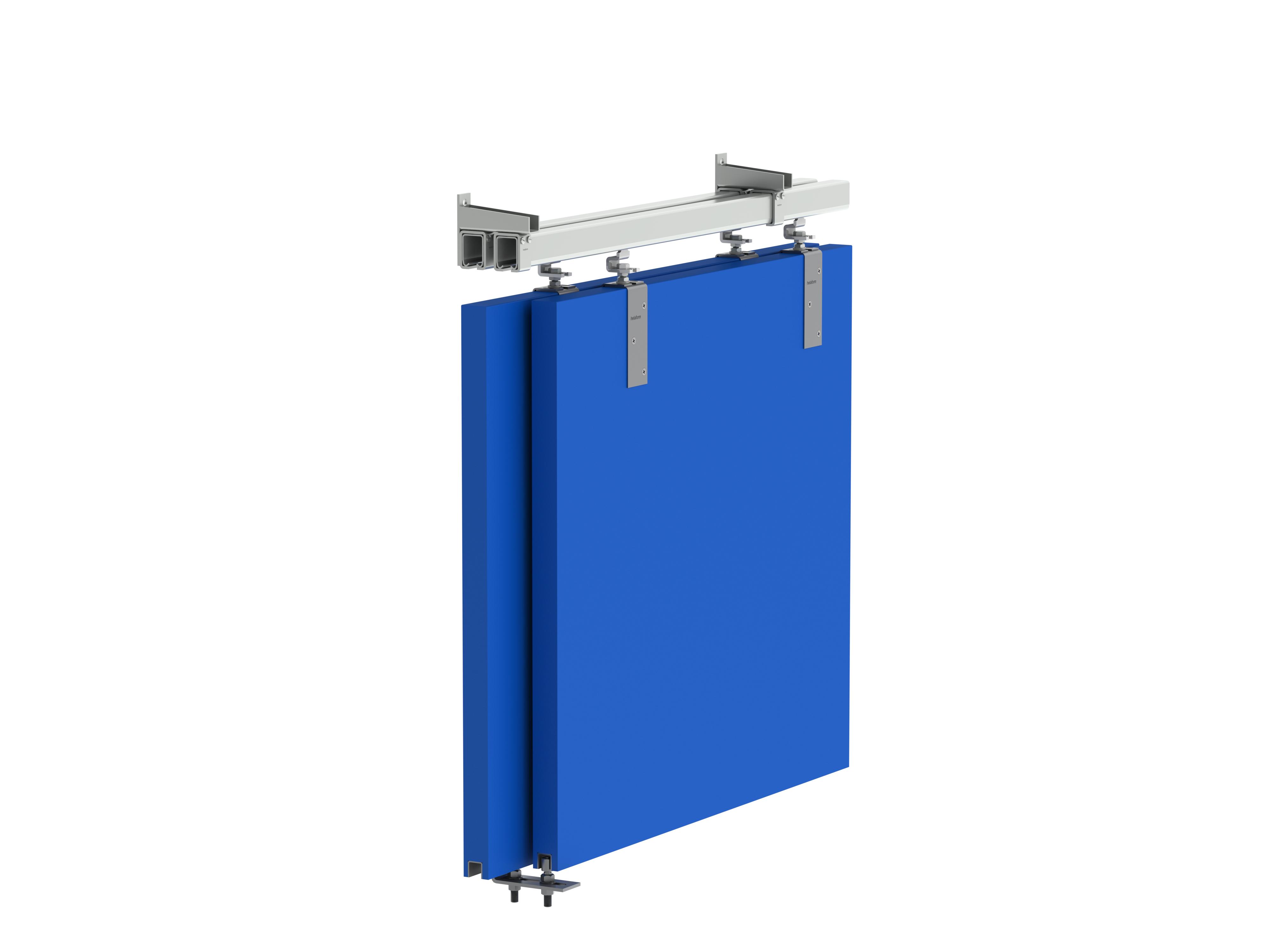 Heavy Sliding Doors With Double Track Helaform