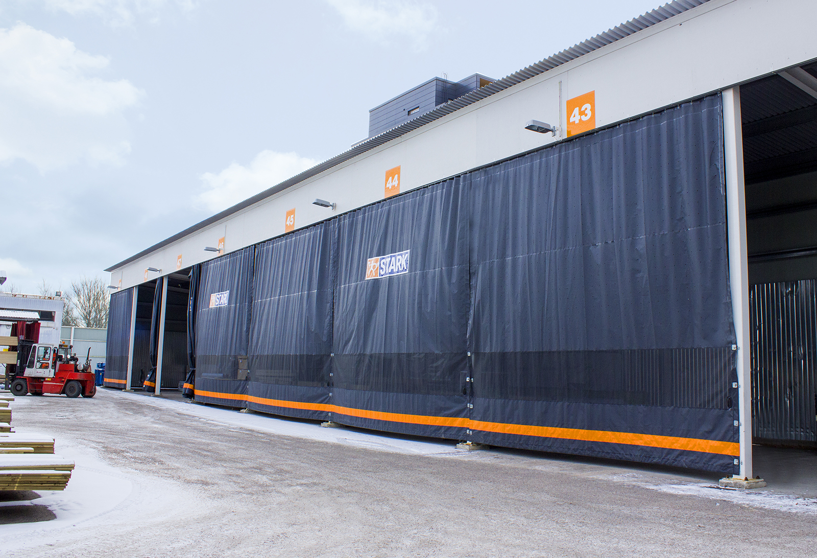 Sliding Industrial Curtains Helaform
